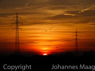 1193a Sonnenuntergang, Müschen, Bad Laer